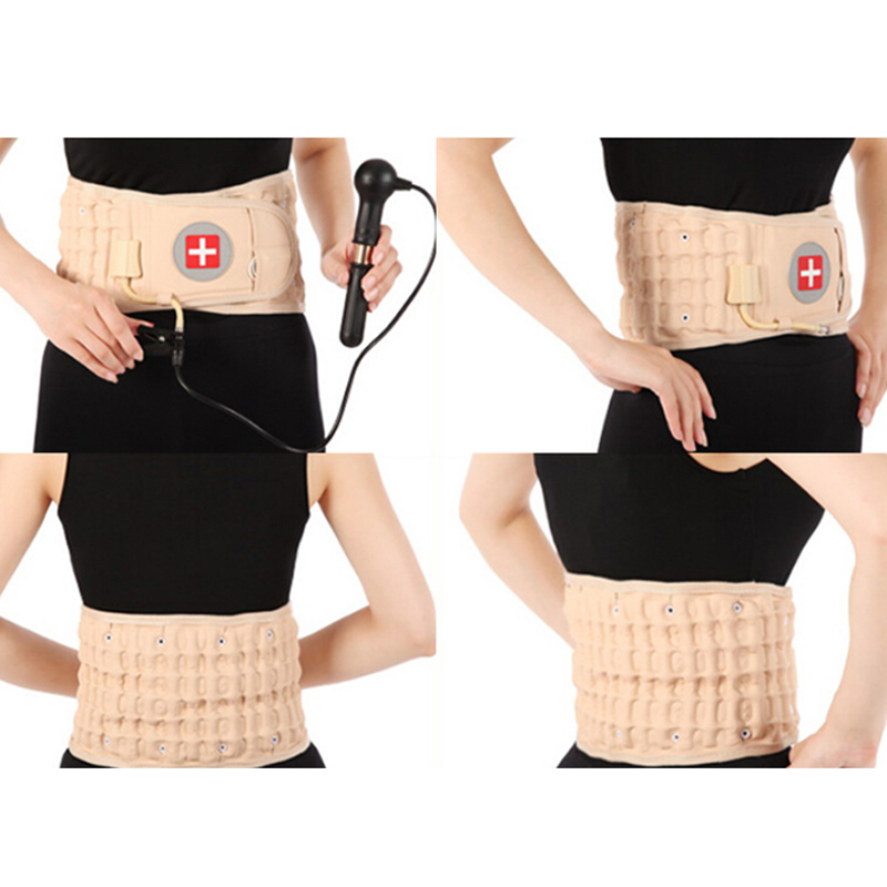 Promotion! Health Care Pain Relive Lower Air Traction Spinal Belt Back Waist Posture Waist Lumbar Traction Belt Brace Support cheap