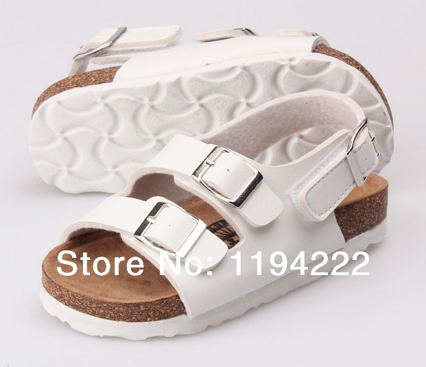 2014 Summer Children Sandals ankle-wrap cork EVA sole outdoor slippers two straps footbeds - Summer's Leisure Shop store