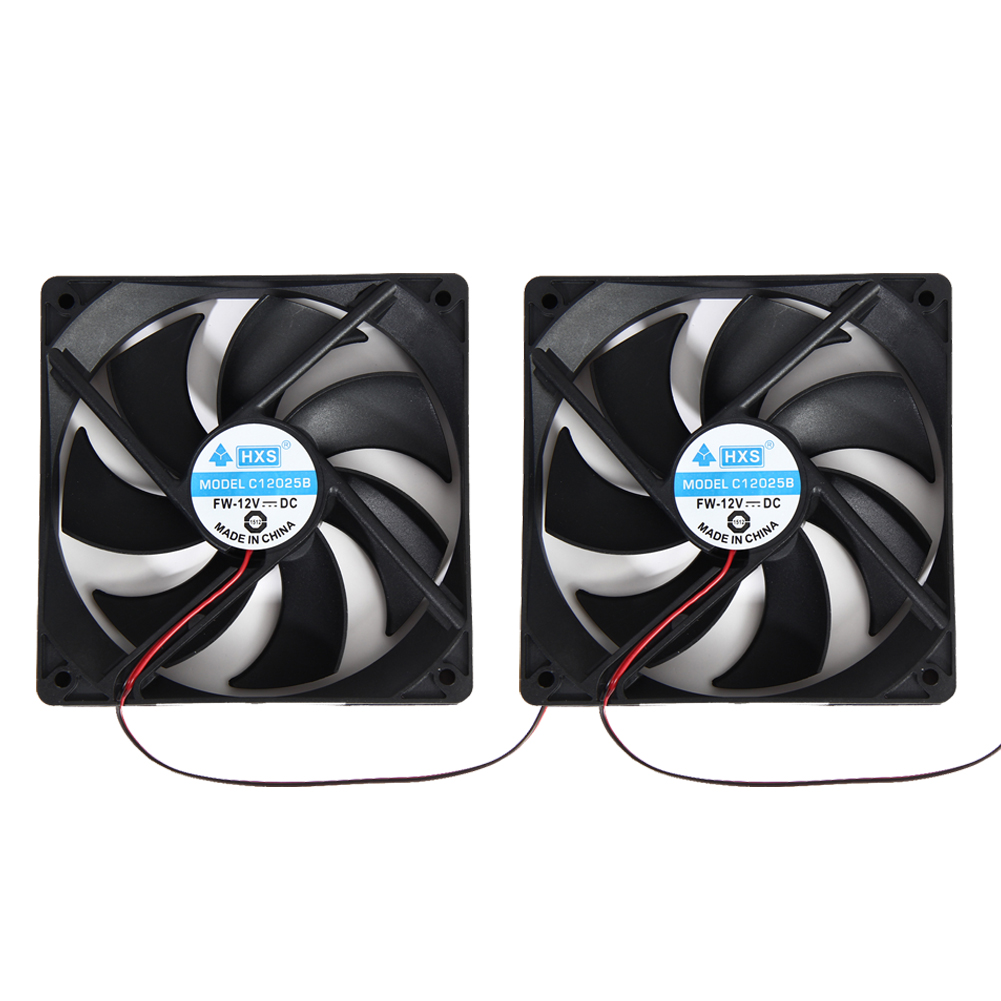 High Quality 2pcs 120mm 4Pin DC 12V Brushless PC Computer Case Cooling Fan 120x25mm(China (Mainland))