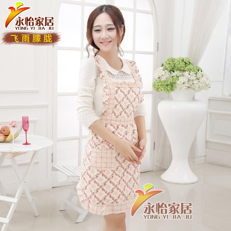 aprons for woman kitchen cooking apron cotton Korean ladies work home garden apron sleeveless(China (Mainland))