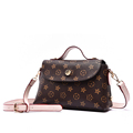 Retro Trendy Print Ladies Handbag Geometric Pattern Small Flap Bag Fashion Casual Shoulder Bag Women Classic