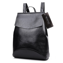 Buy 2017 Design PU Women Soft Leather Backpack College Student High School Bags Girl Teenager Backpack Ladies Laptop Book for $11.99 in AliExpress store