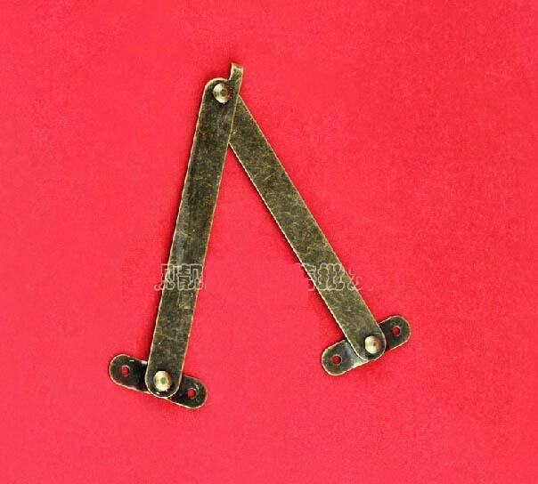 10pcs/lot 98*11 mm Iron box hinge with spring parts/box support hinge(China (Mainland))