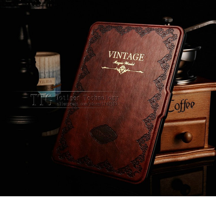Retro Cover For Amazon Kindle Paperwhite Case 6'' Ereader Slim Leather Smart Case for Kindle Paperwhite Cover Mosiso Brand New