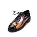 2017 Spring British Style Patent Leather Tassel women Flat shoes Casual Loafer Shoes Vintage Color block