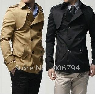 Free Shipping Hot Men's Jackets,Men's Leisure Wear,Men's Casual Jackets Color:Black,Khaki Size:M-L-XL