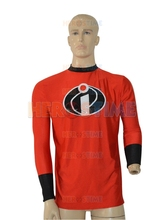 Mr Incredible Long Sleeve T-shirt Hot Sale Red Spandex Incredible Superhero Costume free shipping