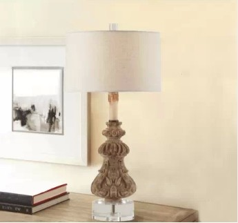 american hand carved wooden lamp ikea creative study bedroom bedside table la. Black Bedroom Furniture Sets. Home Design Ideas