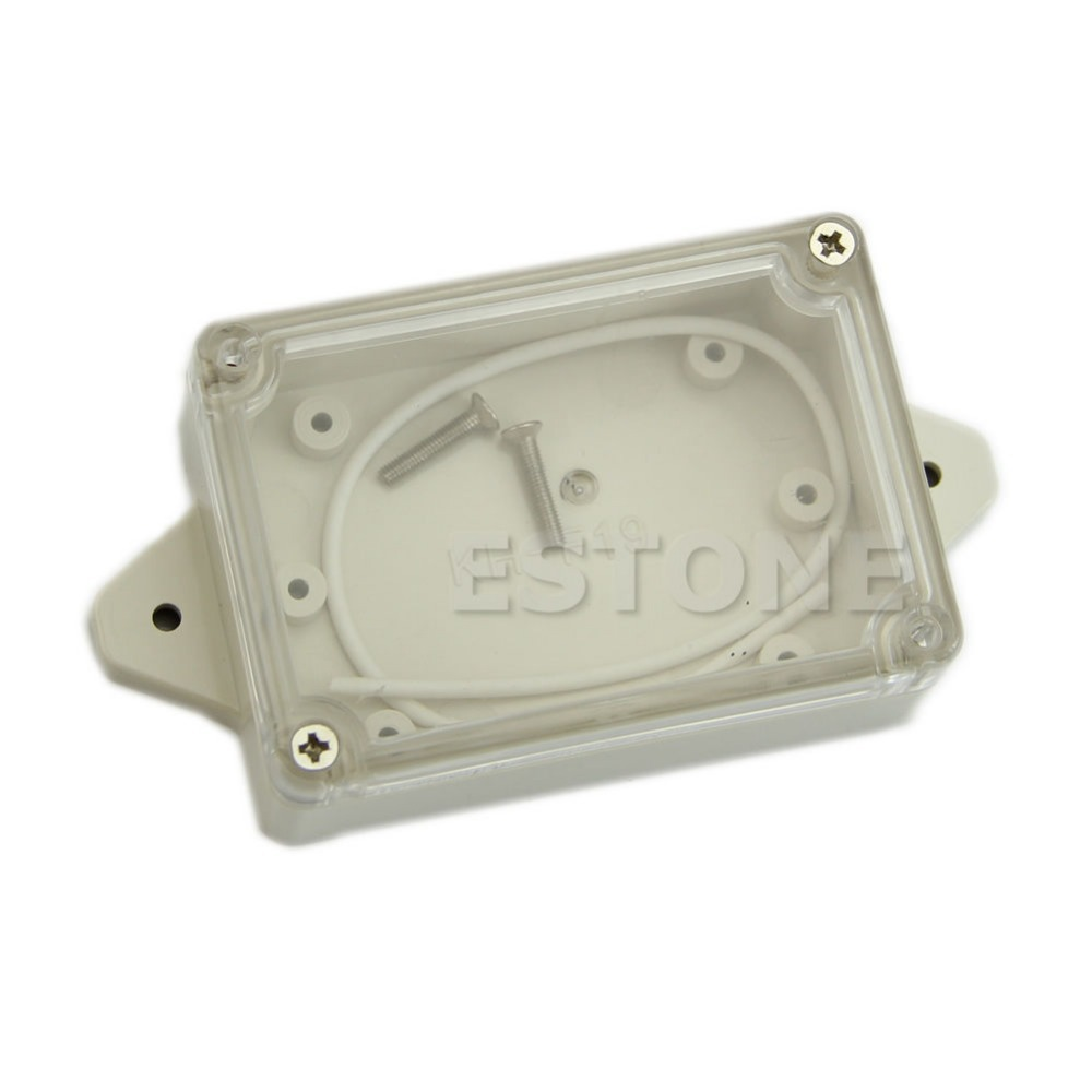 J34 Free Shipping Plastic Waterproof Clear Cover Electronic Project Box Enclosure Case 85*58*33MM(China (Mainland))