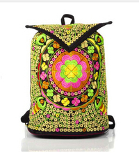 30pcs/lot Wholesale Ethnic Boho Embroidered Backpack bag