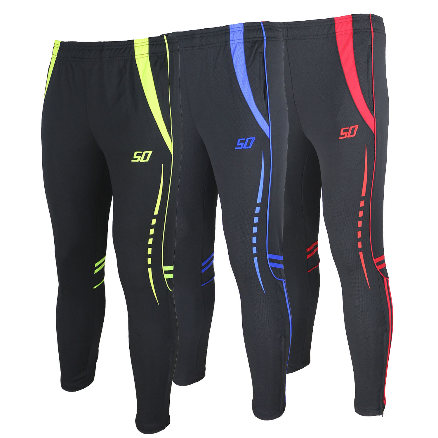 Men's compression running tights Soccer Pants Gym Fitness Training Pants Jogging Soccer ...