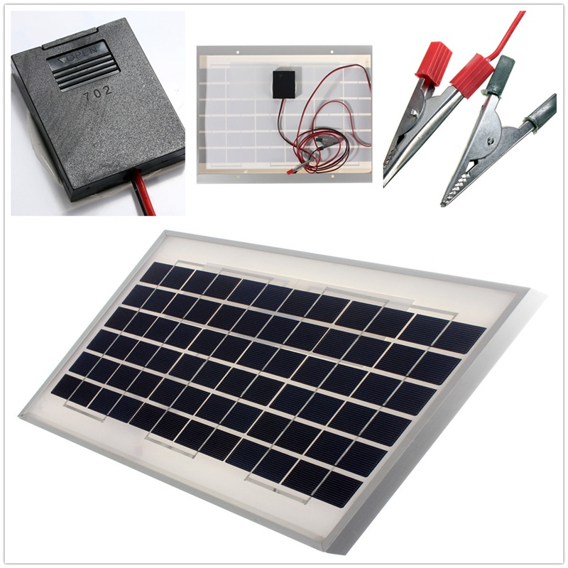Hot Sale 10W 12V PolyCrystalline Stored Energy Power Solar Panel Solar Module System Cells Battery Charger With 2m Cable(China (Mainland))