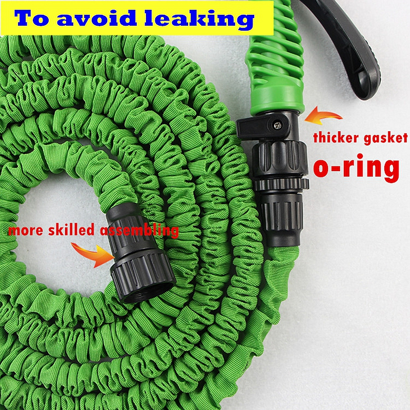 HOT Sale 25FT Garden Hose 7 Modes Watering Hose Mangueira Jardim Magic Flexible Hose + Top quality Spray Gun Car Wash Cleaning(China (Mainland))