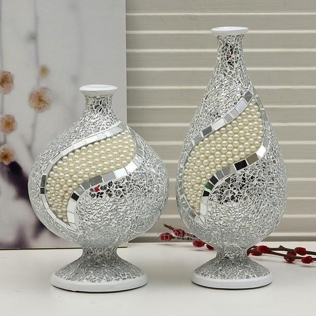 Nova resina breve qualidade vidro quebrado p rola por m o - Como decorar jarrones de vidrio ...