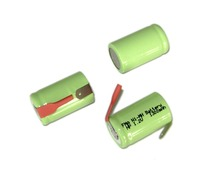 2Pcs  Electric Shaver razor battery Ni-MH Rechargeable 1/2A 2/3A  1.2V 1300mAh w/tabs 17*29mm(China (Mainland))