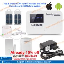 Envío gratis seguridad para el hogar GSM sistema de alarma con relé de alarma antirrobo de intercomunicación soporte IOS y android APP control(China (Mainland))