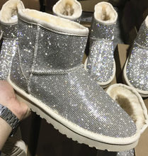 Taklidi Kış çizmeler kadın ayakkabıları Sıcak Peluş yarım çizmeler Kürklü Kadınlar Platformu Kar Botları Koyun Derisi Ayakkabı Avustralya(China)