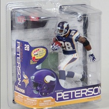 Animation Garage Kid Collection Kids Toys Action Figure PVC Dolls NFL Player Minnesota Vikings Adrian Peterson Model Best Gifts(China (Mainland))