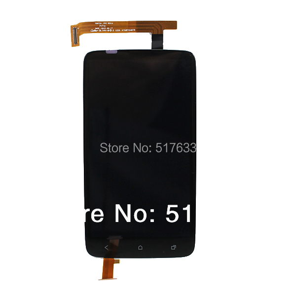 Black LCD Display +Digitizer Touch Screen Assembly Replacements Parts For HTC One X , free shipping+tracking No.(China (Mainland))