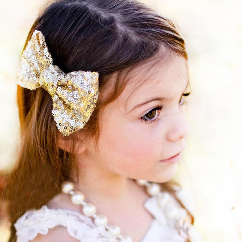 Shining Butterfly Hair Clip Sequin Bow Baby Toddler Kids Head Hair Acessories For Girls Cute Bow(China (Mainland))