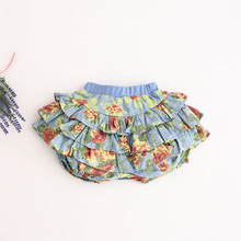 Summer New Korean Lanterns Culottes Denim Short Girls Shorts Child Flowers on Sale(China (Mainland))
