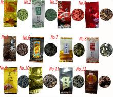 12 Different Flavors Famous Tea Chinese Tea Oolong Green Goji herbal puer Black Tieguanyin Lapsang souchong DahongpaoTea gift(China (Mainland))