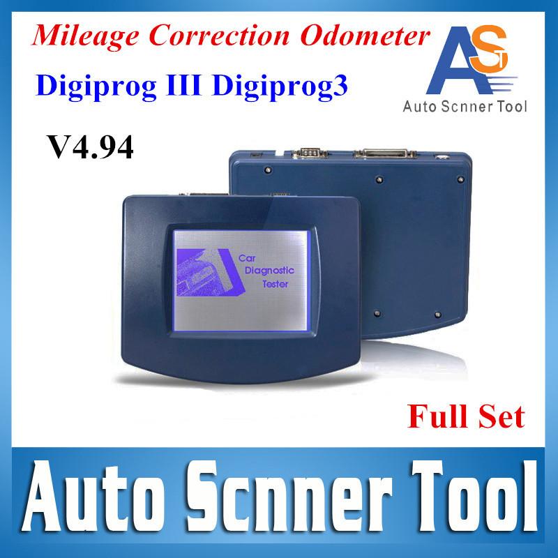 Professional Odometer New Released DIGIPROG 3 V4.94 Programmer Digiprog III Full Package Mileage Correction Car DiagnosticTester(China (Mainland))
