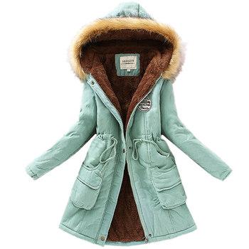 Куртка, женское зима базовые куртки пальто женское парка с натуральный и искусственный ...