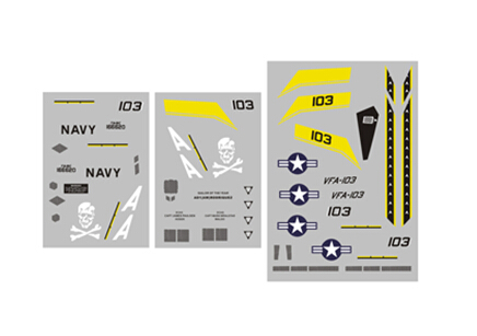 Decal sheet for LX F18 F-18 Electric Jet super fighter plane sky flight hobby(China (Mainland))