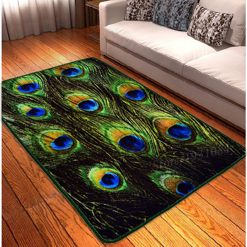 ethnic style carpet indiana colorful feather pattern