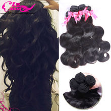 Brazilian Virgin Hair Body Wave 4 Bundles Brazilian Body Wave Hair 100% Human Hair 8''-30'' Brazilian Virgin Hair Free Shipping(China (Mainland))