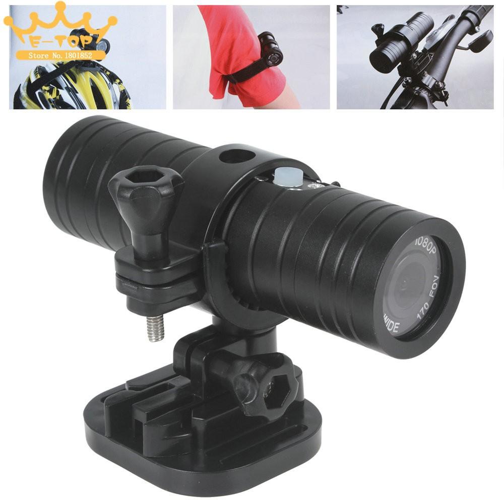 10pcs 1080P HD SJ2000 H.264 Camera Mini Bike Helmet Sports DV DVR 30M Waterproof 170 Angle Up to 32G Sport Action Camera
