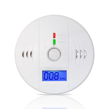 85dB High Sensitive Independent LCD Digital Backlight Carbon Monoxide Alarm Detector CO Gas Sensor Alarm for Home Security Safe