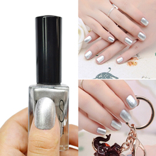 1 Pc 15ml Shimmer Silver Nail Art Polish Fashion Miirror Polish Elegant Silver Color Good Quality Nail Polish HOT(China (Mainland))