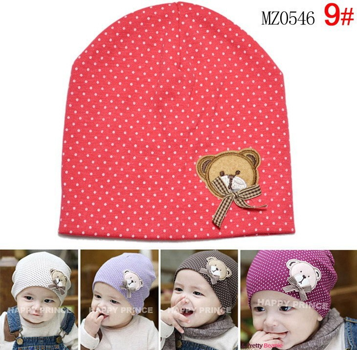 baby hat Lovely Kids Infant Baby Boys Girls Unisex Beanies Hat Bear labeling Cap 9 Colors For baby hats