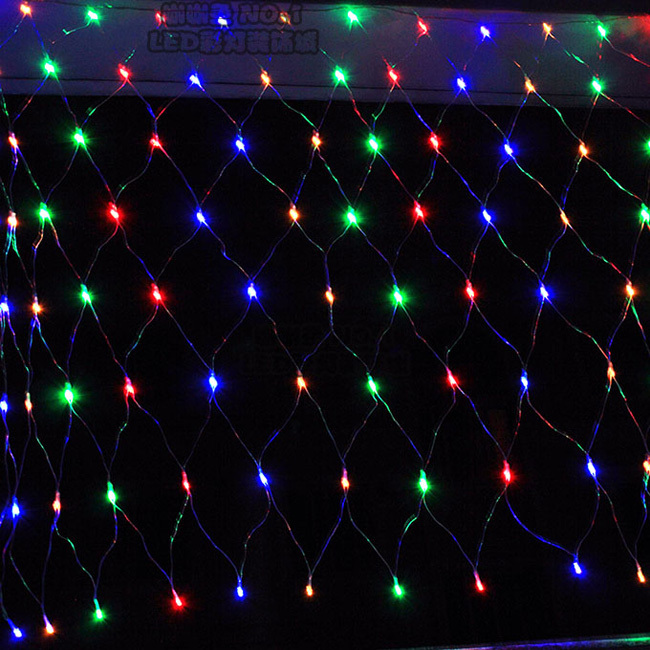 Free Shipping Led net light 1.5x1.5Meter net light string holiday lighting indoor outdoor decoration light  AC220V<br><br>Aliexpress
