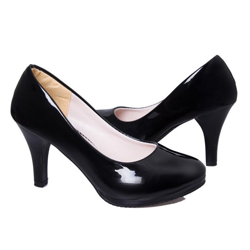 Sexy Round Toe High Heels Brand Office Women Pumps Ladies Wedding Shoes Woman Chaussure Femme Zapatos Mujer sapato feminino<br><br>Aliexpress