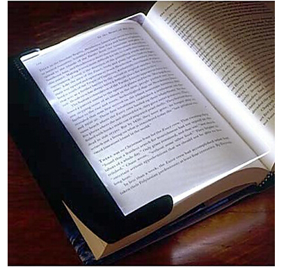 Night Vision Paperback Book Reading Lightwedge LED Light Panel 3xAAA New 1pcs(China (Mainland))