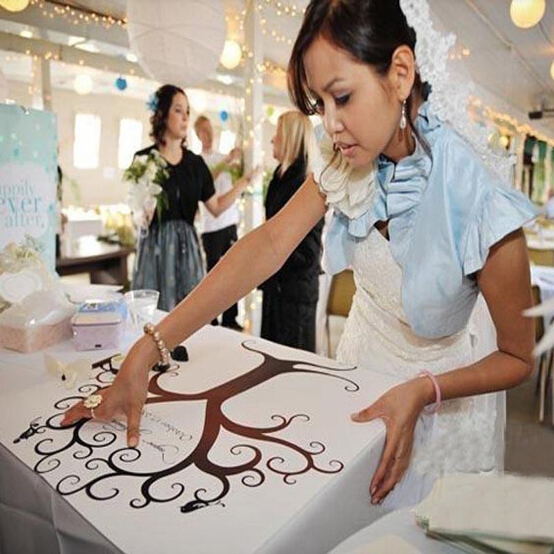 Wedding Gifts for Guests Fingerprint Tree DIY Signature Wedding Guest Book Tree Souvenirs Personalized Fingerprint Wedding