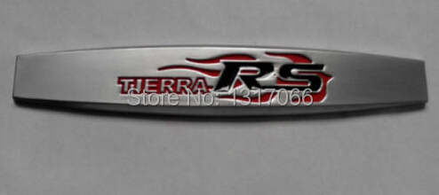 Silver Metal 3D Racing TIERRA RS Car sticker Badge Emblem Car Decal for all car(China (Mainland))