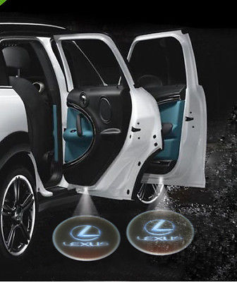 2014 rushed special offer 6v parking car styling 2 x welcome shadow led car laser projector logo courtesy door light for lexus(China (Mainland))