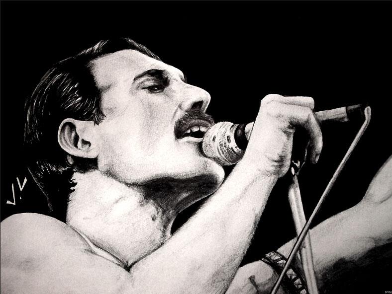Freddie Mercury Legend Rock Music Drawing Art Huge Print Poster TXHOME D7152(China (Mainland))