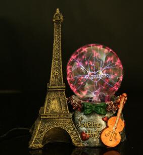 2015 تصميم جديد باريس برج يلة مصباح البلازما الكرة ساكنة الكرة السحرية الكرة متعدد الألوان أضواء صنبور المياه مصباح iq لغز(China (Mainland))