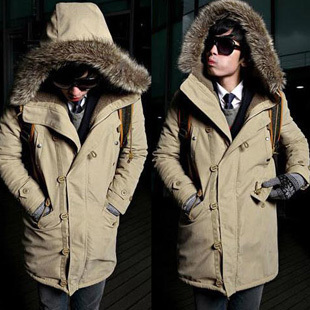 Hot 2015 Mens Cloth Fur Hooded Winter Long Coat Mens Outerwear Warm Thickening Fleece Jackets Cotton overcoatОдежда и ак�е��уары<br><br><br>Aliexpress