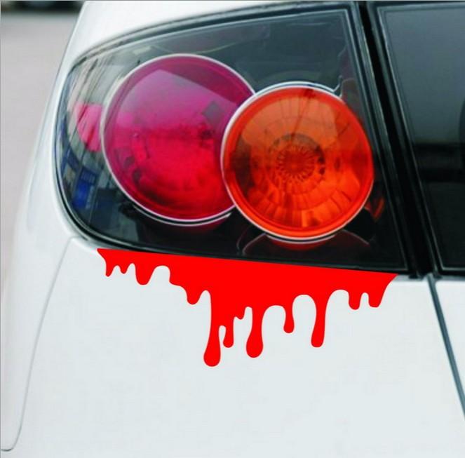 2pcs/lot New Design Headlight Bleed Car Sticker Lifelike Personality Manifestation Car Styling Stickers Free shipping(China (Mainland))