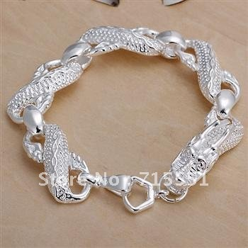 YB78 925 Silver Dragon Chain Bracelets /New Hot Free Shipping / Fashion Jewelry Supplier /Christmas gifts New Arrival(China (Mainland))