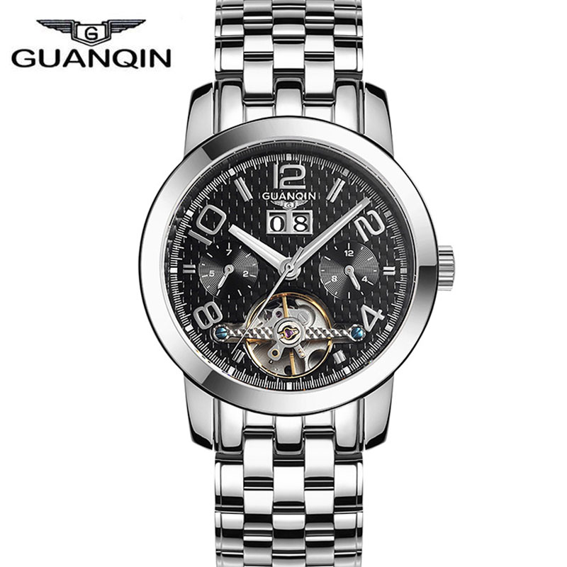 mens watches top brand luxury New GUANQIN Tourbillon Automatic Mechanical Watches Men Waterproof Men Watches relogio masculino
