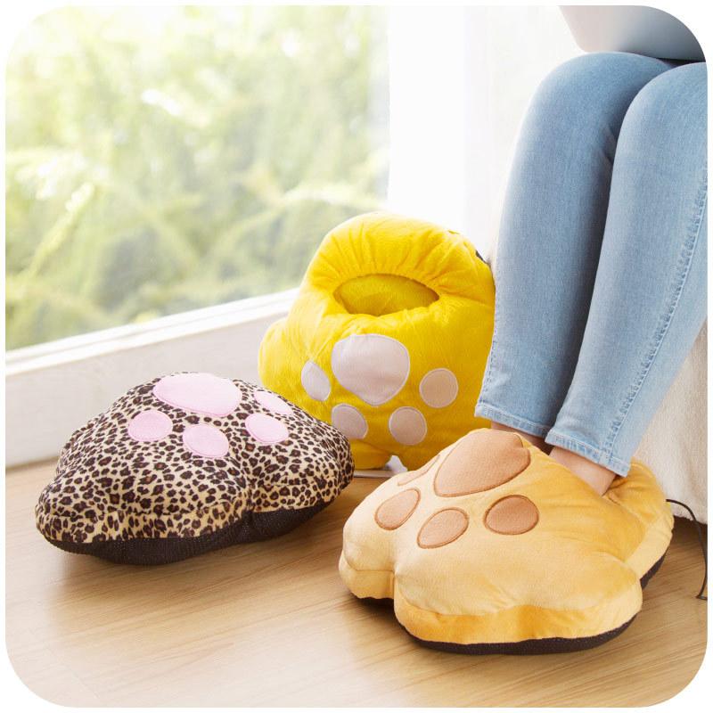 Гаджет  Creative plush catlike USB foot warmer treasure, super soft washable warm feet shoes, warm shoes foot warmers K3868 None Бытовая техника