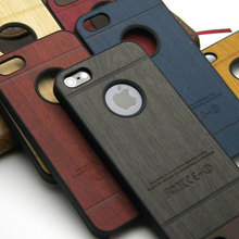 for iphone 5s case wood skin with hard PC cover case classical Vintage Retro Style 1pc free shipping(China (Mainland))