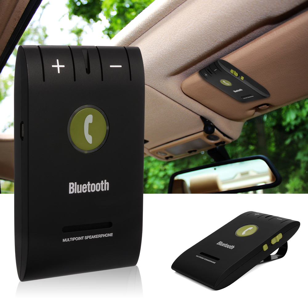 car kit bluetooth speakerphone handsfree wireless music. Black Bedroom Furniture Sets. Home Design Ideas